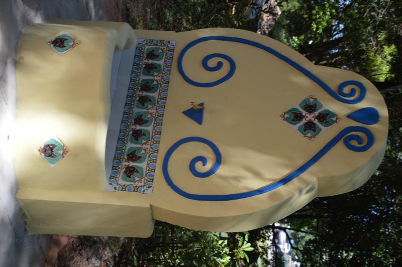 A azulejaria, que foi colocada foi executada pelo ceramista, Vítor Formigo das Faianças Bordalo Pinheiro
