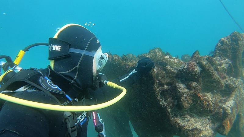 Miguel Castro e Pedro Ramalhete pretendem voltar a mergulhar para fazer novas análises ao navio
