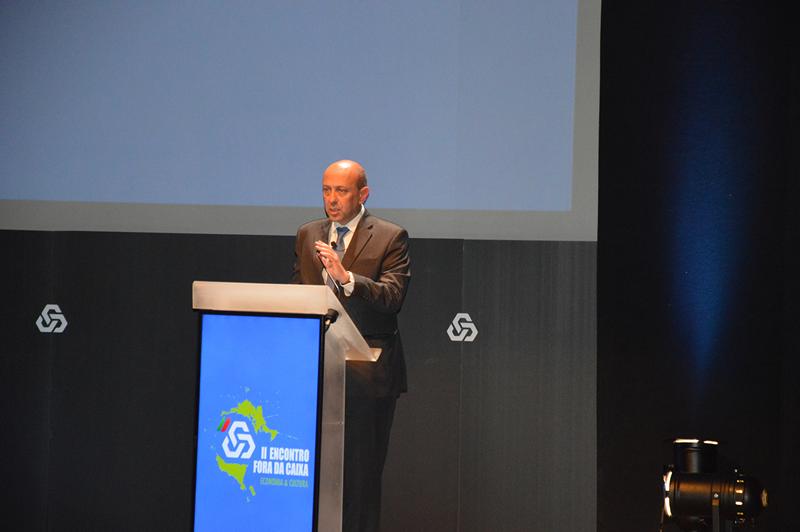 """Neste evento, subordinado ao tema """"Dinâmicas Empresariais"""", coube a Francisco Cary, administrador executivo da CGD, iniciar a sessão"""