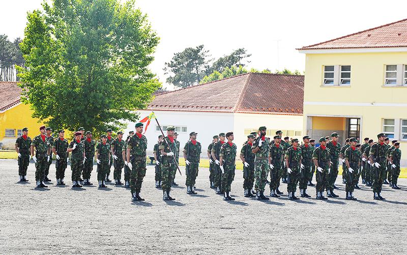 Militares que prestaram juramento de bandeira