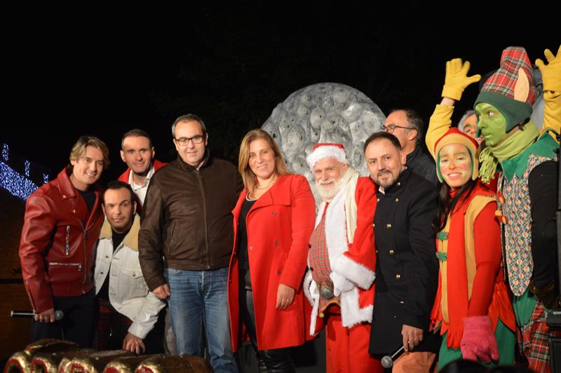 Festa que assinalou a ligação das luzes de Natal