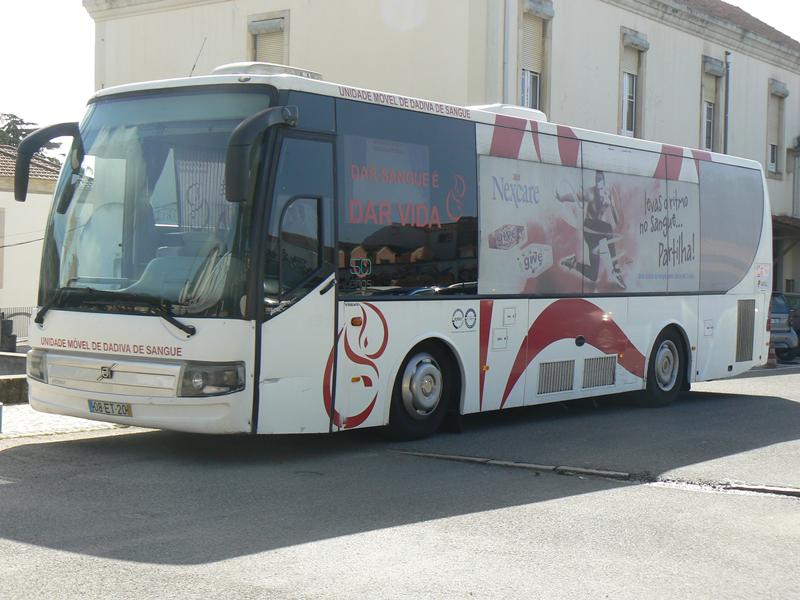 Unidade móvel de dádiva de sangue