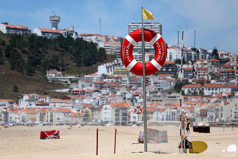 Na praia da Nazaré não houve alteração, apesar da autarquia achar que a lotação pode não ser suficiente
