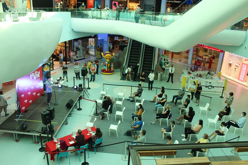 O concurso está a ser realizado no centro comercial La Vie com as devidas medidas de segurança