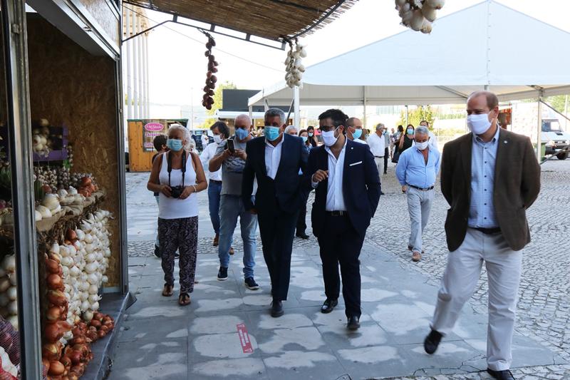 Os presidentes da Câmara das Caldas e da Junta de Alvorninha estiveram na inauguração