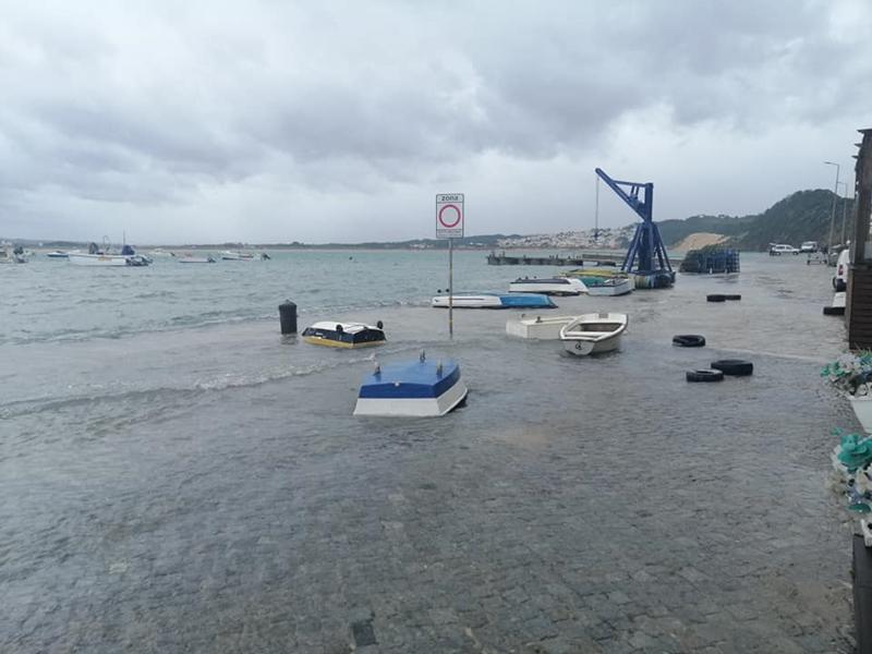 Barcos virados em São Martinho (foto Pedro Mendes)