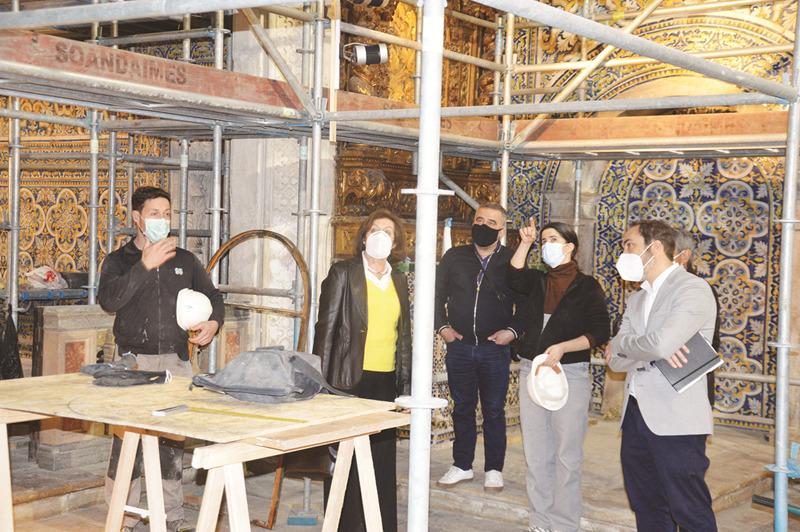 Uma visita às obras permitiu ver a evolução dos trabalhos