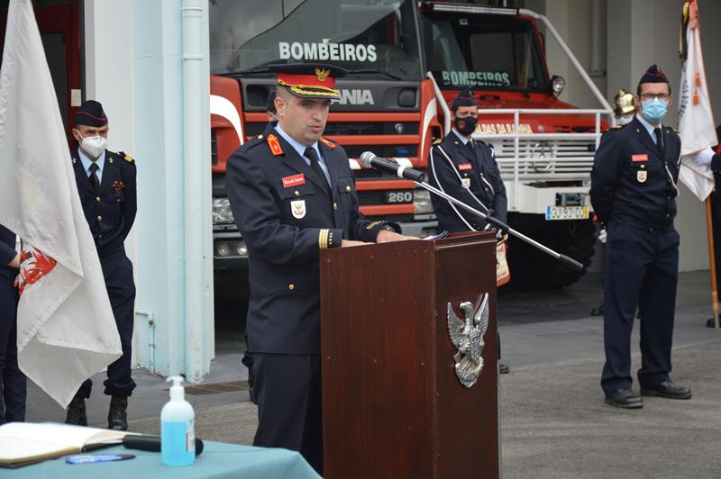 O novo segundo comandante, Ricardo Soares, após a tomada de posse