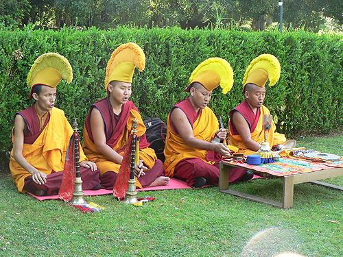 Cerimónia de purificação do ambiente no Parque