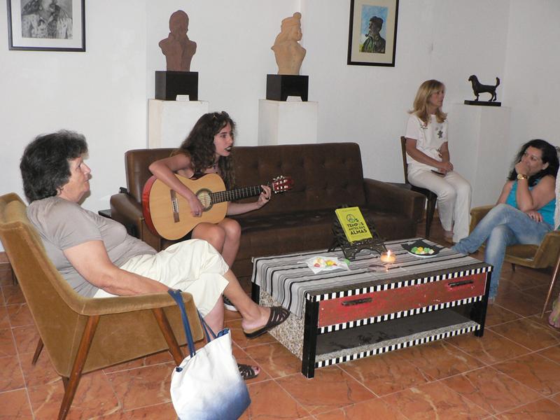 Animação musical com Madalena Formigo (Foto: Rui Miguel)