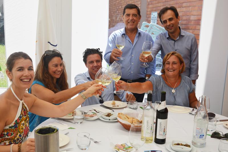 Não faltou o vinho da Quinta do Sanguinhal à mesa