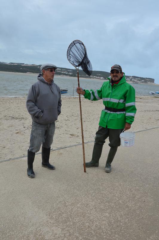 A situação da lagoa preocupa José Rebelo e Carlos Alberto