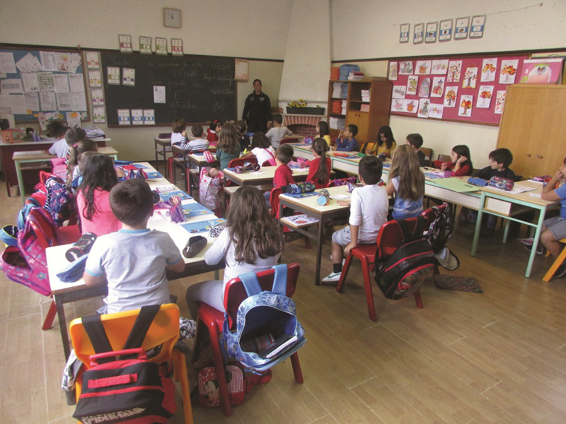 Ação com alunos do 1º ano em escola de Peniche