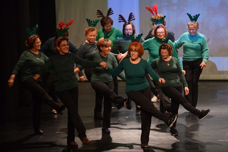 Os seniores dançaram na Festa de Natal da Universidade Sénior