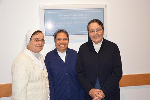 As irmãs Filhas da Caridade de S. Vicente de Paulo - Rosa Lopes Gil, Josefina Fernandes Pinto e Maria da Conceição Olival