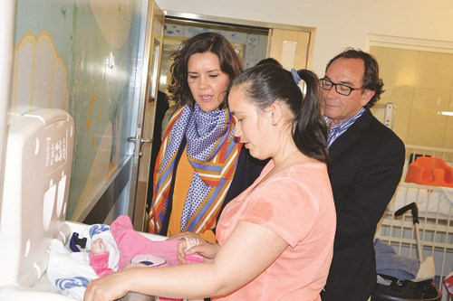Assunção Cristas visitou a ala de pediatria do hospital das Caldas